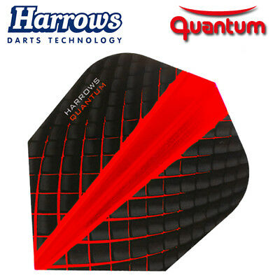 HARROWS QUANTUM Dart Flights Standard Form 100 Mikron Neuheit 2018 rot