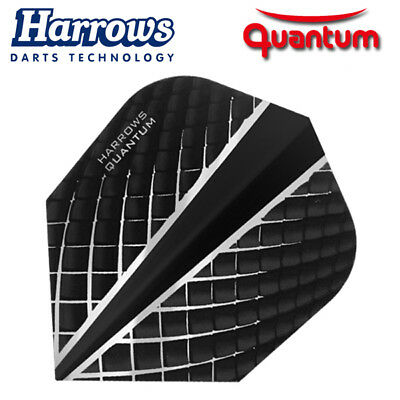 HARROWS QUANTUM Dart Flights Standard Form 100 Mikron Neuheit 2018 schwarz