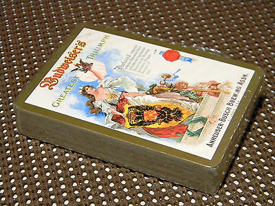 Vintage Budweiser Beer Greatest Triumph Annheuser Brewing Deck Of Playing Cards