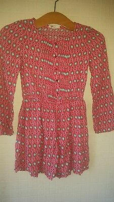 Girls Tammy Cerise Long Sleeve. Button Down Playsuit Age 8-9