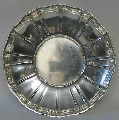 Wallace Sterling Silver Fluted Bon Bon Dish Bowl Candy