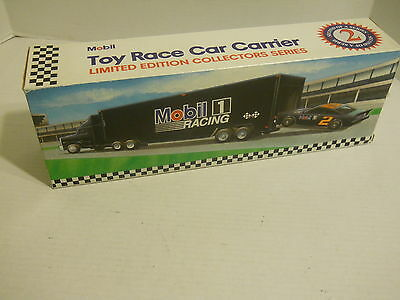 Mobil 1 Toy Race Car Carrier Tanker Truck Collectors Series 2 Lmtd Edition NIB