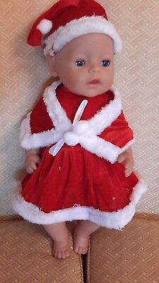 "clothes  for 17"" baby born doll  - XMAS OUTFIT"