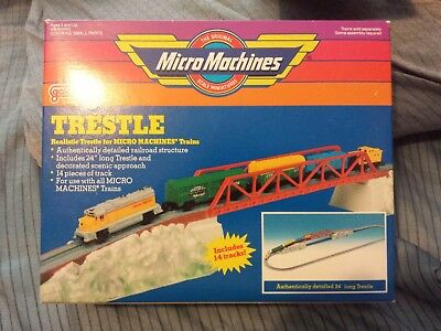 Rare Very Hard To Find Lot Galoob Micro Machines Train Trestle Mib Nrfb Freeship