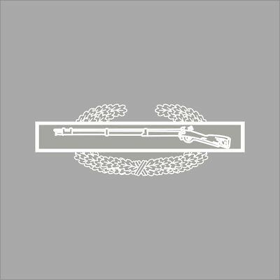 Combat Action Badge vinyl decal,pin,insignia,class a,b,dress blues,US Army,lg
