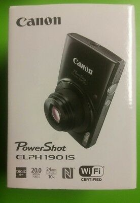 Canon PowerShot ELPH 190 IS Digital camera 20.0 MP. BRAND NEW FACTORY  SEALED