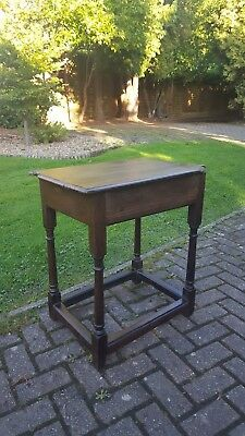 Antique Mid 17th Century Carolean Jacobean Oak Side Table