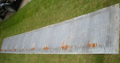 SALE Antique Corrugated Tin Galvanized Steel Wainscoting Rusty Barn Shed 250""