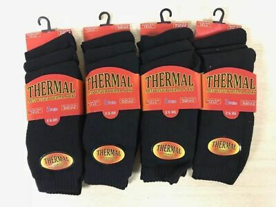 Men/'s 6 12 Pair Thermal Winter Socks Thick Cotton Blend Warm Ski Hiking Outdoor