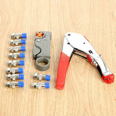 New RG58/6 Coaxial Cable Crimper Compression Tool Kit Compression Connectors