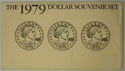 1979 Susan B. Anthony $1 Dollar Coin U.S. Mint Souvenir Set Uncirculated