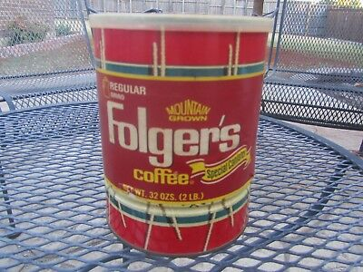 Vintage FOLGER'S Coffee Special Canister Collectors Tin