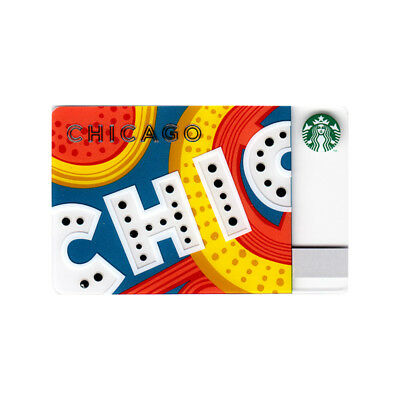 Lot of 5 Chicago (2013) City Broadway Theatre Illinois Starbucks Gift Cards