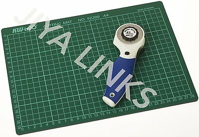 KW-triO 45mm Rotary Cutter+A4 Self Healing Grid Cutting Mat Non Slip Knife Board