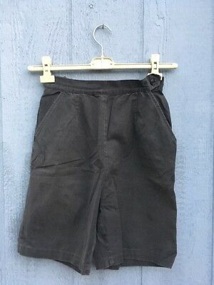 1940's High Waisted Black Shorts Cotton. Union Label Rare Vintage