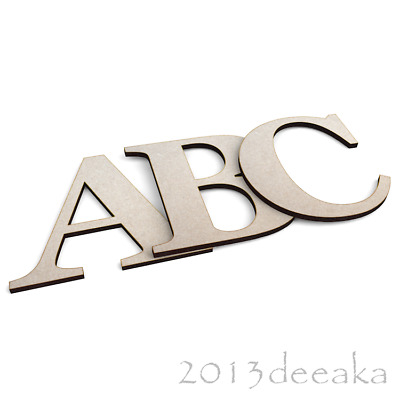Georgia Bold Wooden Letters & Numbers Alphabet Letters & Numbers, 4mm Thick MDF