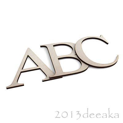 Individual Times New Roman Wooden Letters /& Numbers Alphabet MDF 3mm Thick
