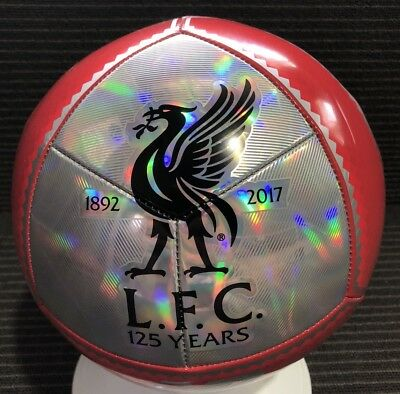 Liverpool F.C Soccer Ball NB Size 5 Football 125 Anniversary 1892 - 2017 NEW