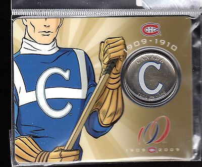 2009 MONTREAL CANADIENS HOCKEY TEAM 100TH ANNIVERSARY COMMEMORATIVE 50c,1909-10
