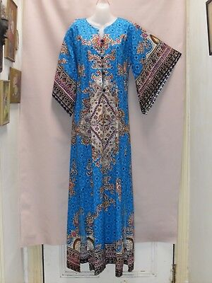 1990's Vintage Cotton Kaftan with Butterfly Sleeves.