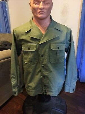 WW2 US Army 1st Pattern HBT Jacket 2XL- At The Front Repro. Reenactor