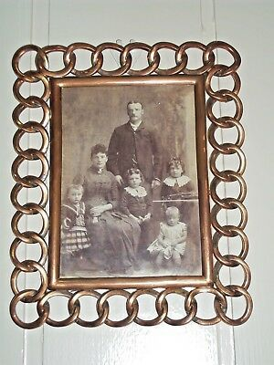 Antique family Photo in Brass and Copper Frame