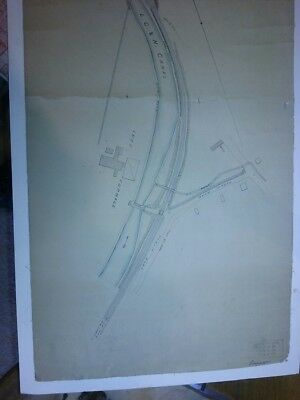 Large Antique Hand Colored Map of the Lehigh Valley Railroad LVRR Lucy Furnace