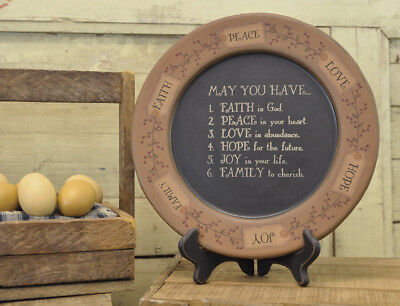 """Plate-May You Have...(Tag & Berry)-Round (11 1/4"""")"""