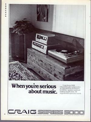 1976 Craig Series 5000 Stereo Audio Amplifier Record Tape Vintage Print Ad 1970s