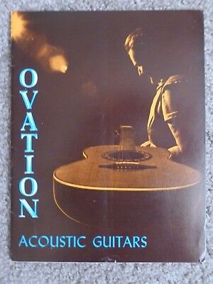 Ovation Acoustic Guitar Catalog - 1972 w/ price sheets