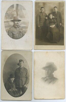 Ww1 Four Rp Npu Postcards Australian Imperial Force Soldiers/british Soldier X3