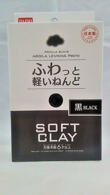 DAISO JAPAN DIY Soft Clay BLACK  Made in   JAPAN  F/Shipping