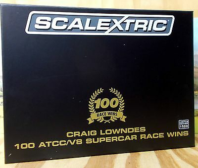 Scalextric 1/32 Scale C3815A Craig Lowndes 100 Race Wins 2 Car Pack Ltd. Ed, Nib