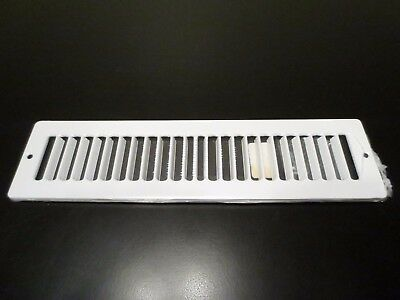 "Hart & Cooley 420 12"" x 2"" WxH White Vent Cover 011302 11302"
