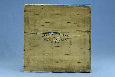 Antique KELSEY PRESS CO WOODEN TYPE TRAY SHADOW BOW 48 SECTIONS MERIDEN CONN OLD