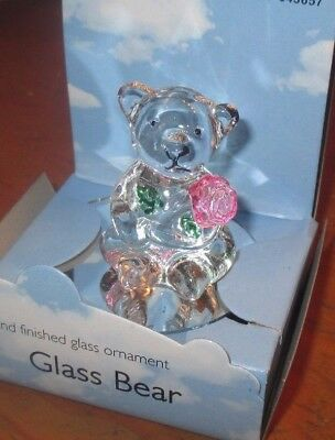 Hand Finished Glass Ornament Glass Bear