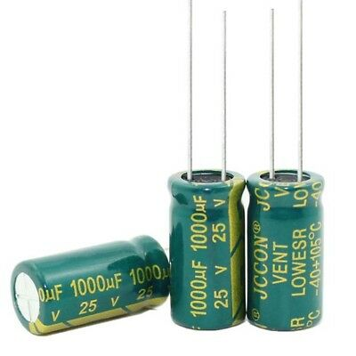 20pcs 1000uF 25V High Frequency Radial Aluminium Electrolytic Capacitors 10x20mm