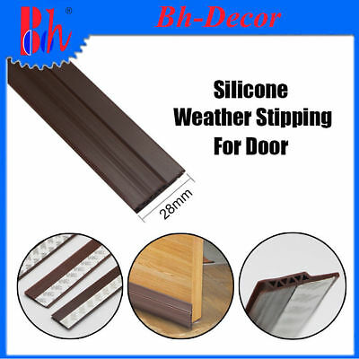 28mm Self Adhesive Silicone Rubber Door Bottom Seals Sealing Weather Strippings