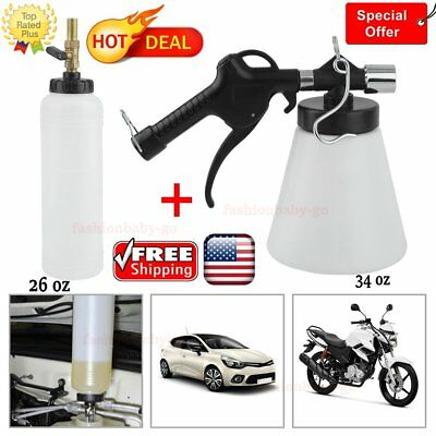 Car Hand Held Vacuum Pressure Pump Tester Set Brake Fluid Bleeder Bleeding Tool#