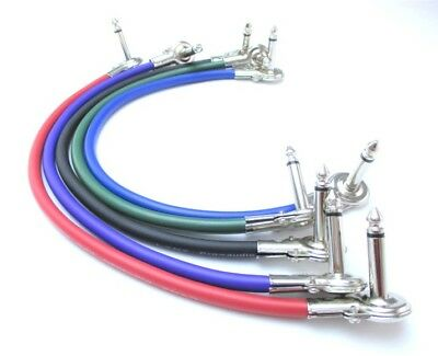 Pancake Jack Patch Cable - Angled Guitar Effects FX Pedal Lead - ALL LENGTHS