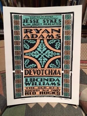 JESSE SYKES / RYAN ADAMS / DEVOTCHKA / LUCINDA - RED ROCKS 2007 Poster #10/120