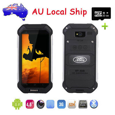 "32G Discovery V19 Android 3G SmartPhone 4.5"" Duad Core Rugged Mobile Phone Black"