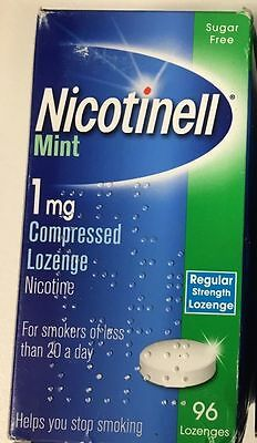 NICOTINELL Mint 1mg / 2mg Compressed Lozenges X 480 ( Choose Strength )
