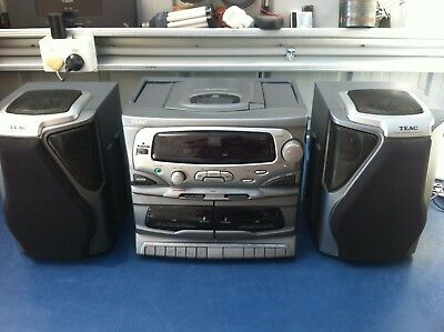 TEAC PC-D900 Hi-Fi Stereo System CD Player Dual Tape Double Cassette Player