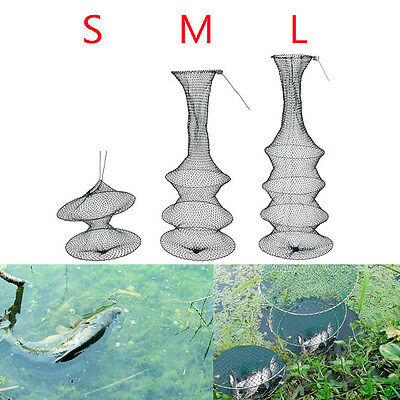 Foldable Fishing Bait Trap Cast Crab Fish Net Cage Crawdad Shrimp2/3/4Layer;K