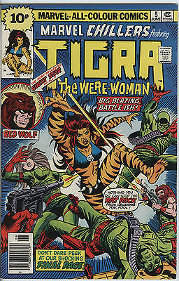 Marvel Chillers Issue 5 From 1976 features Tigra The Were-Woman