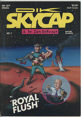 Dik Skycap Issue 1 From 1991 By Rip Off Press By Philip Groves B&W Comic