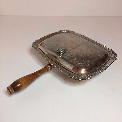 Vintage Silver On Copper Silverplate Butler Crumb / Ashtray