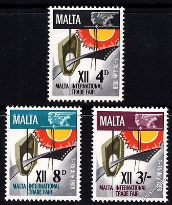 Malta 1968 International Trade Fair Complete Set SG 402 -404 Unmounted Mint