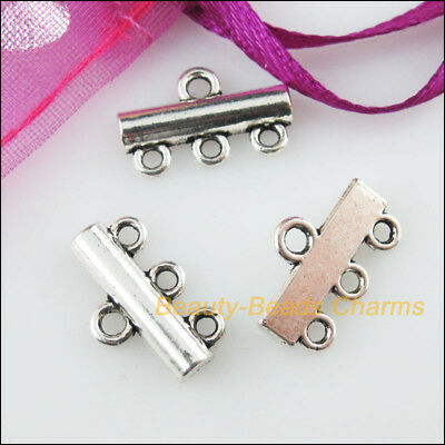20 New Charms 1-3 Smooth Tibetan Silver Tone Pendants Connectors 10x13mm